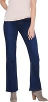 Denim & Co. Regular Soft Stretch Lightly Bootcut Distressed Jean