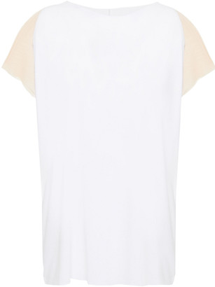 Wolford Pure Modal-blend Jersey And Stretch-tulle T-shirt