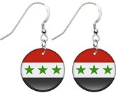 Body Candy Iraq Flag Earrings