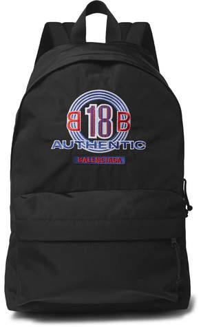 Balenciaga Explorer Logo-Embroidered Canvas Backpack