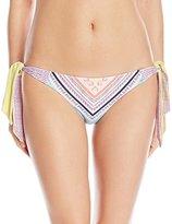 Roxy Women's Boho Reversible Knotted Mini Bikini Bottom