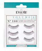 Eylure Strip Eyelashes Volume No.100 Multipack x 3