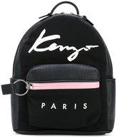 Kenzo small Signature backpack - women - Cotton/Calf Leather/Nylon/Polyurethane - One Size