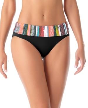 Anne Cole Sand Striped Bikini Bottoms Women's Swimsuit