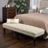 Christopher Knight Home Hastings Tufted Fabric Ottoman Bench