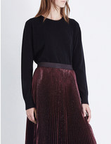 Christopher Kane Metallic-trim wool and cashmere-blend jumper