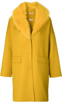 P.A.R.O.S.H. fur-trim coat - women - Fox Fur/Polyester/Wool - XS