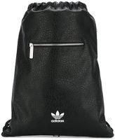 adidas logo print textured backpack - women - Cotton/Polyurethane - One Size