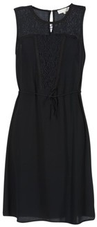 Cream DONA women's Dress in Black