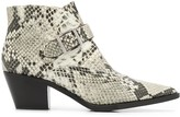 Steffen Schraut snakeskin print ankle boots