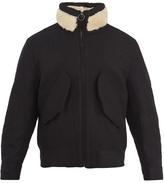 Acne Studios Mutt shearling-trimmed wool coat