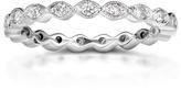 Kobelli Jewelry Kobelli 1/3 CT TW Round-Cut Diamond Platinum Wedding Band with Milgrain Finish