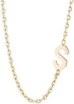 """Bianca Pratt Women's Initial """"S"""" Charm Necklace"""