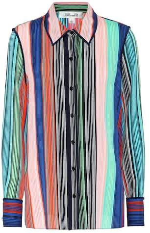Diane von Furstenberg Striped silk blouse