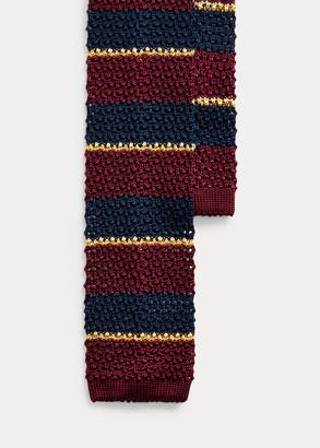 Ralph Lauren Striped Knit Silk Tie