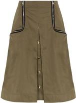 J.W.Anderson zip-detail twill taffeta skirt
