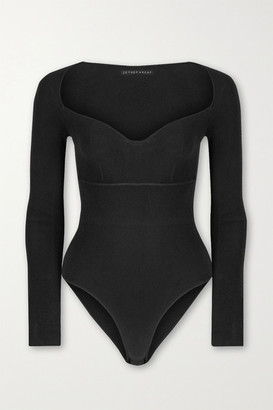 ZEYNEP ARCAY Stretch-knit Bodysuit - Black