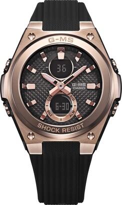 Casio Womens Analogue-Digital Quartz Watch with Resin Strap MSG-C100G-1AER