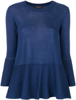 Roberto Collina flared cropped sleeve sweater