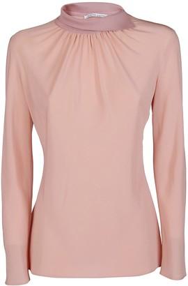 Agnona Pink Silk Blouse