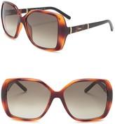 Chloé 58mm Daisy Oversized Sunglasses