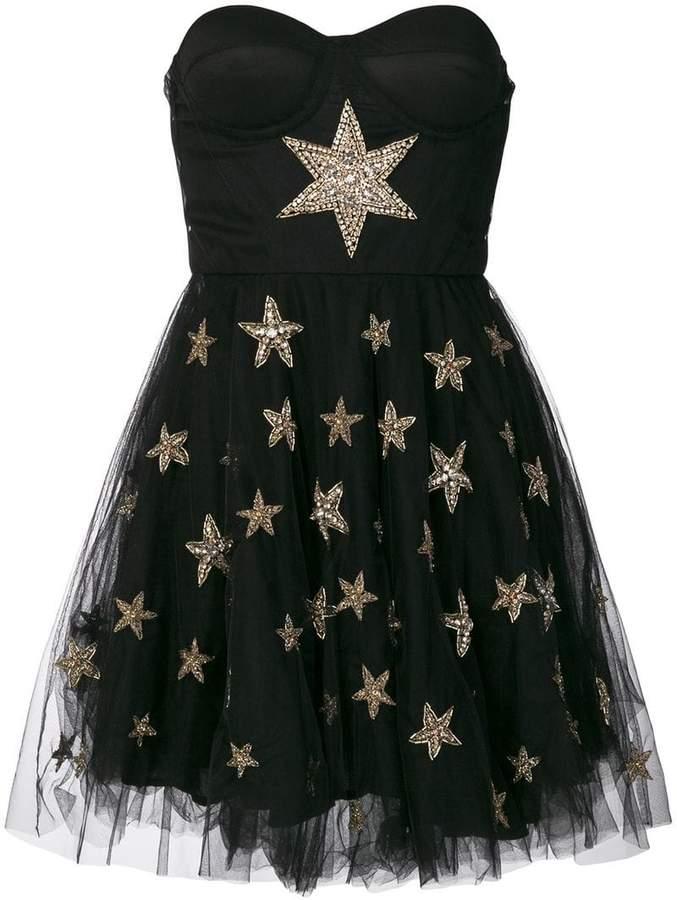 Amen tulle skirt beaded star applique dress