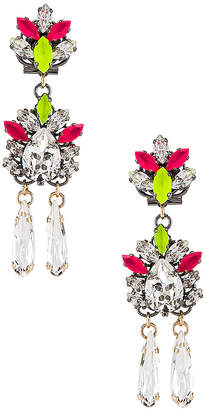 Anton Heunis Floral Motif Pendant Drop Earring