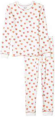 PJ Salvage Kids All Things Love Peachy Two-Piece Jammie Set (Toddler/Little Kids/Big Kids) (Ivory) Kid's Pajama Sets