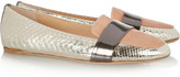 Reed Krakoff Tri-tone python and leather loafers