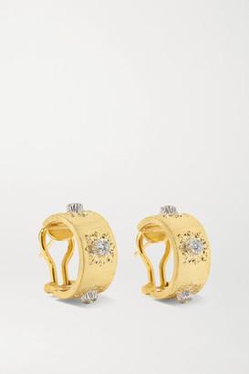 Buccellati Macri Classica 18-karat Gold Diamond Hoop Earrings - one size