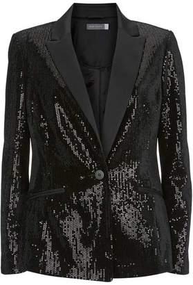 Mint Velvet Black Sequined Blazer