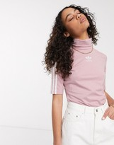 adidas premium trefoil cropped t-shirt in Pink