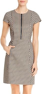 Elie Tahari Louisa Printed Zip-Front Dress