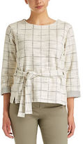 Sportscraft NEW WOMENS Carrie Check Tee Tops & Blouses