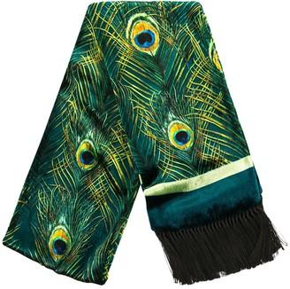 Dolce & Gabbana Peacock Print Silk Scarf