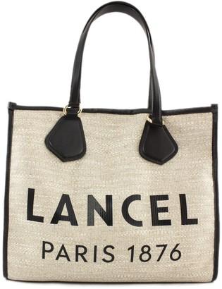 Lancel Black And Jute Summer Bag