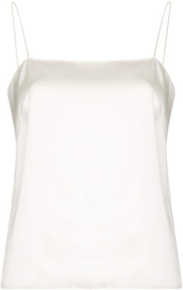 Alexandre Vauthier Scoop-Back Silk-Blend Satin Camisole