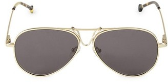 Colors In Optics Rebel 59MM Aviator Sunglasses