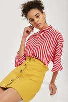 Topshop **PETITE Button Through Skirt