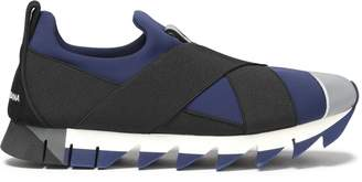 Dolce & Gabbana Suede-trimmed Color-block Neoprene Slip-on Sneakers