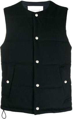 MACKINTOSH GILLS Navy Storm System Wool THINDOWN Vest | GM-1025TD