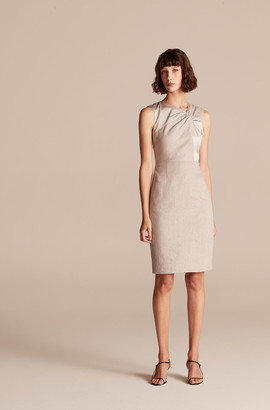 Rebecca Taylor Tailored Slub Twill Suiting Dress