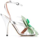 Marco De Vincenzo flower-embellished stiletto sandals