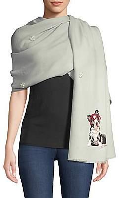Janavi Women's Cashmere & Merino Wool Embellished Dog Wrap Scarf