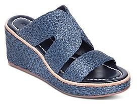 Bernardo Women's Kaia Raffia Wedge Heel Sandals