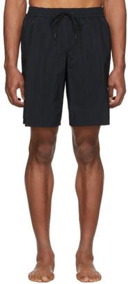 Versace Underwear Black Long Swim Shorts