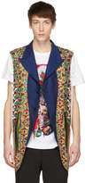 Comme des Garcons Reversible Multicolor Multi Fabric Lace-Up Vest