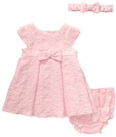 Sweet Heart Rose Sweetheart Rose Baby Girls Woven Dress Set with Diaper Cover and Headband- 3 Pieces