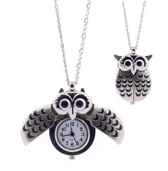 Overstock O My Owl Pendant Watch in Antique Gold - -