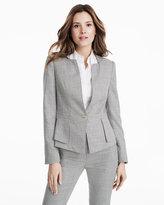 White House Black Market Single Button Yarn Dye Suit Jacket